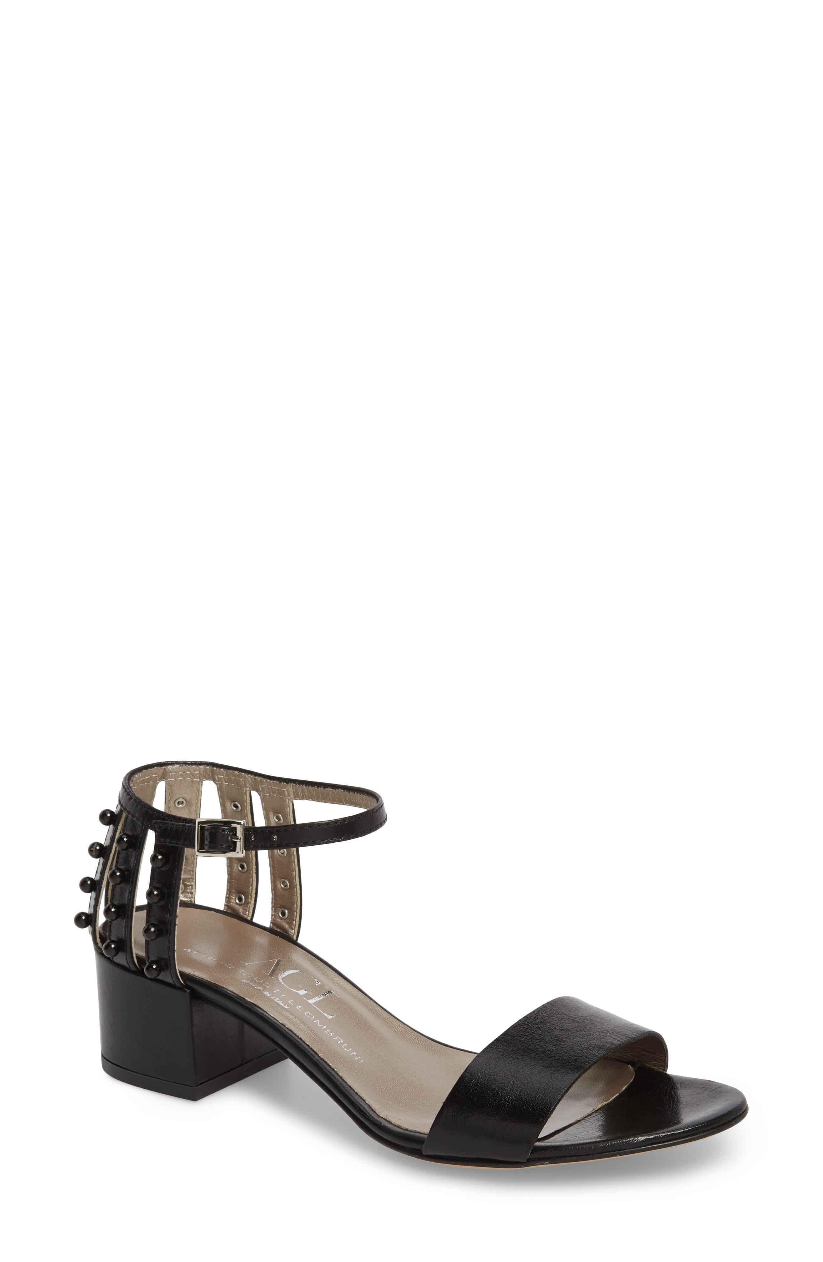 ae82d3eb304 Agl Attilio Giusti Leombruni Embellished Ankle Strap Sandal In Black ...