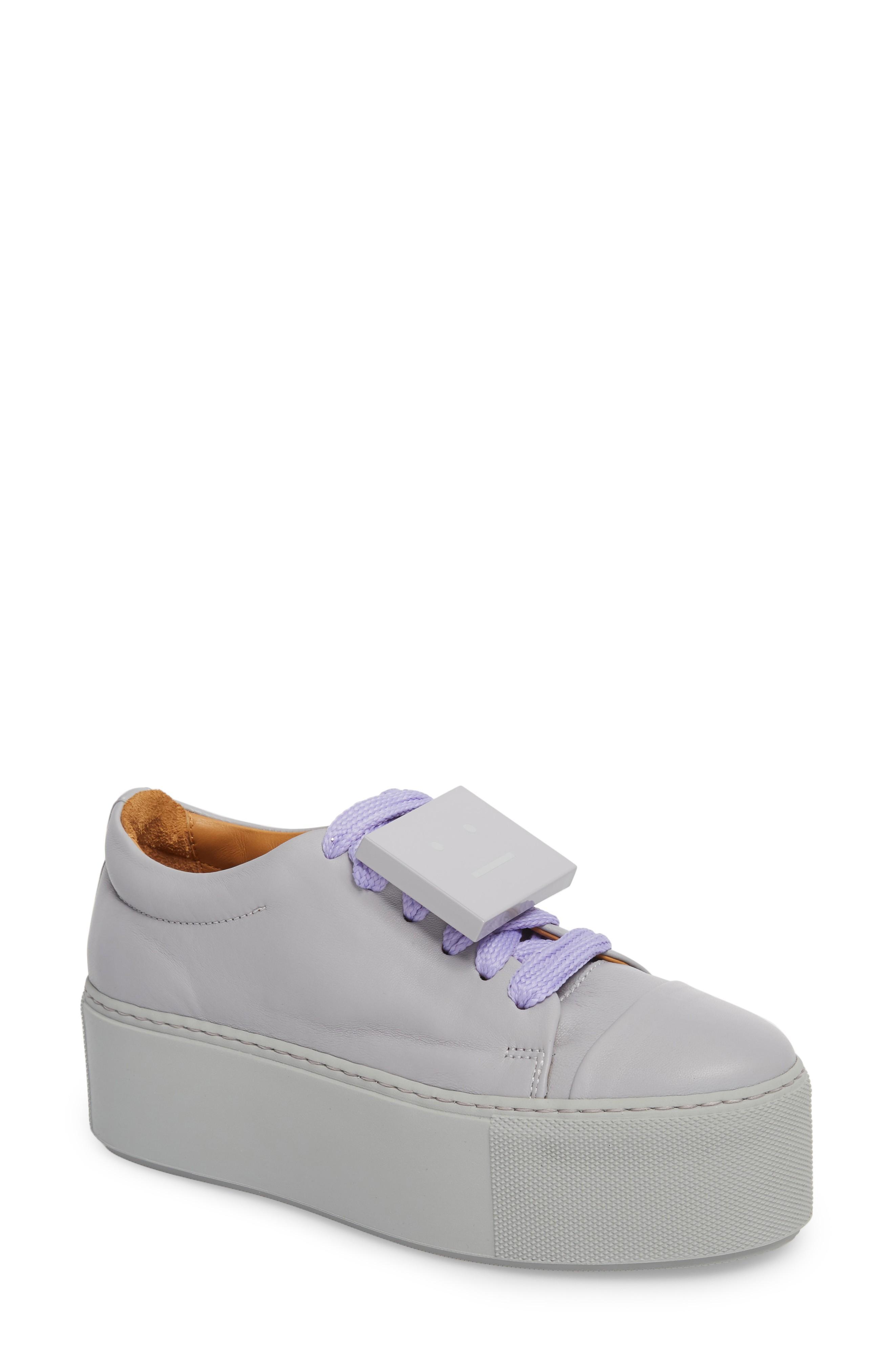 e66da37f4d58 Acne Studios Drihanna Nappa Leather Platform Sneaker In Solid Pale ...