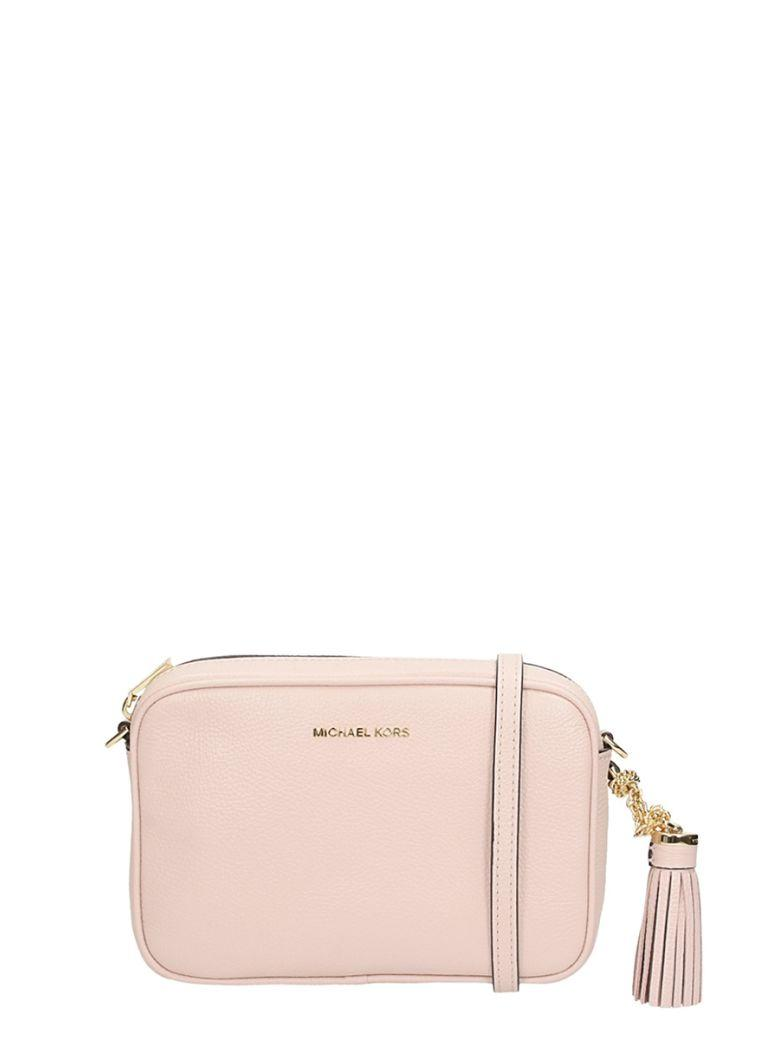 Michael Kors Ginny Leather Crossbody In Rose-Pink