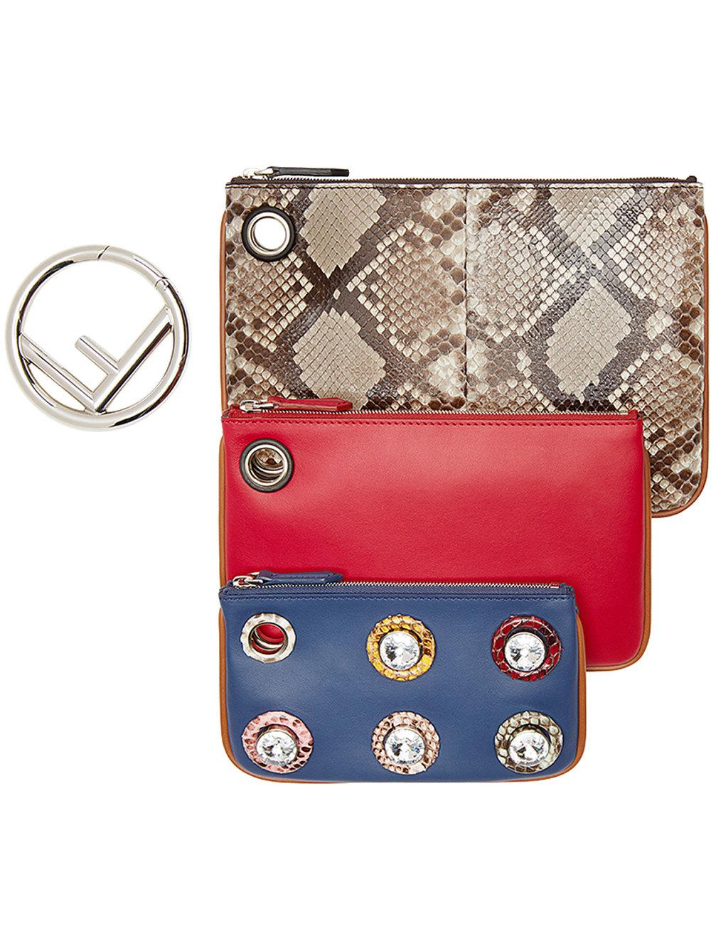 5eebc4fc2852 FENDI. Triplette Clutch.  2290 2290. Available From 0 Store