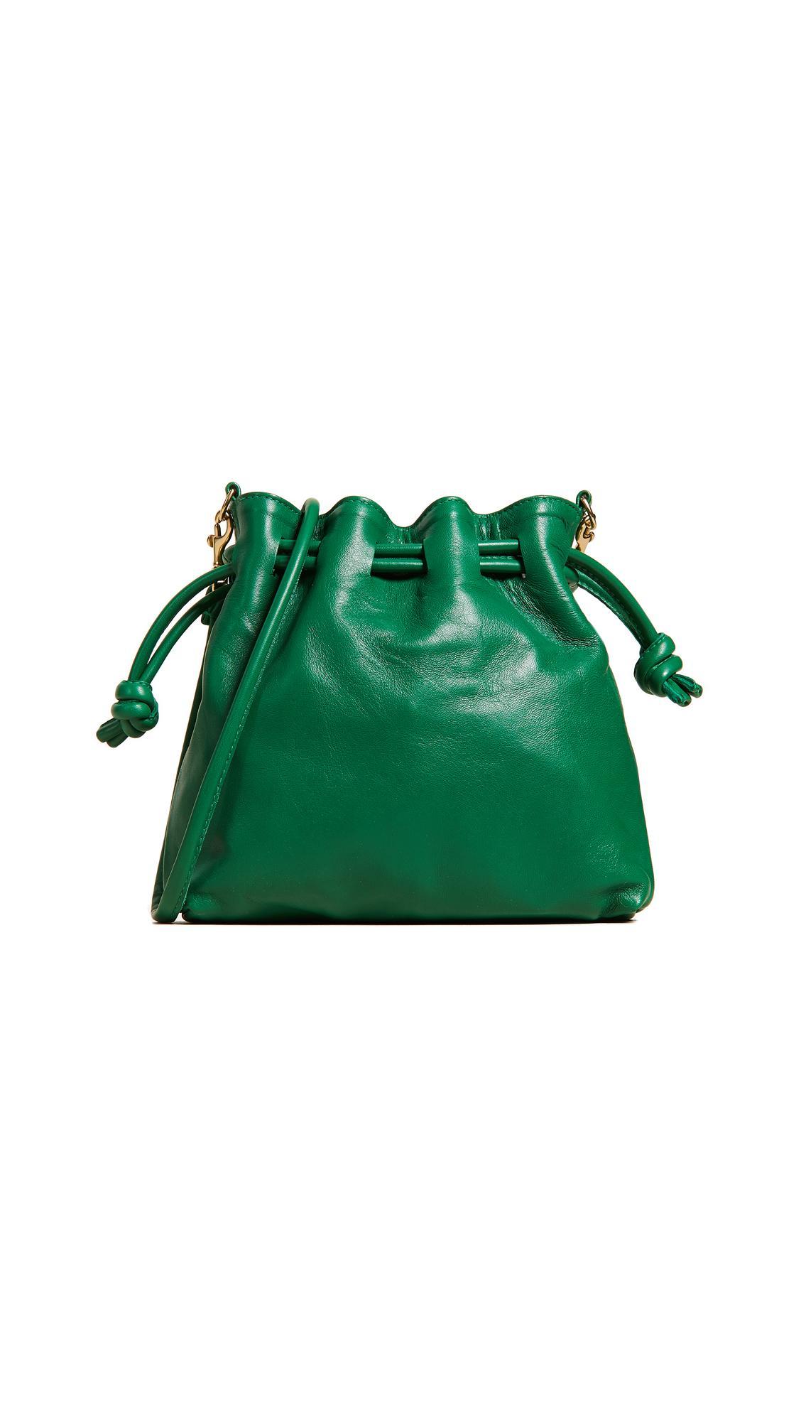 3729cf4df Clare V Petit Henri Maison Drawstring Bag In Emerald | ModeSens