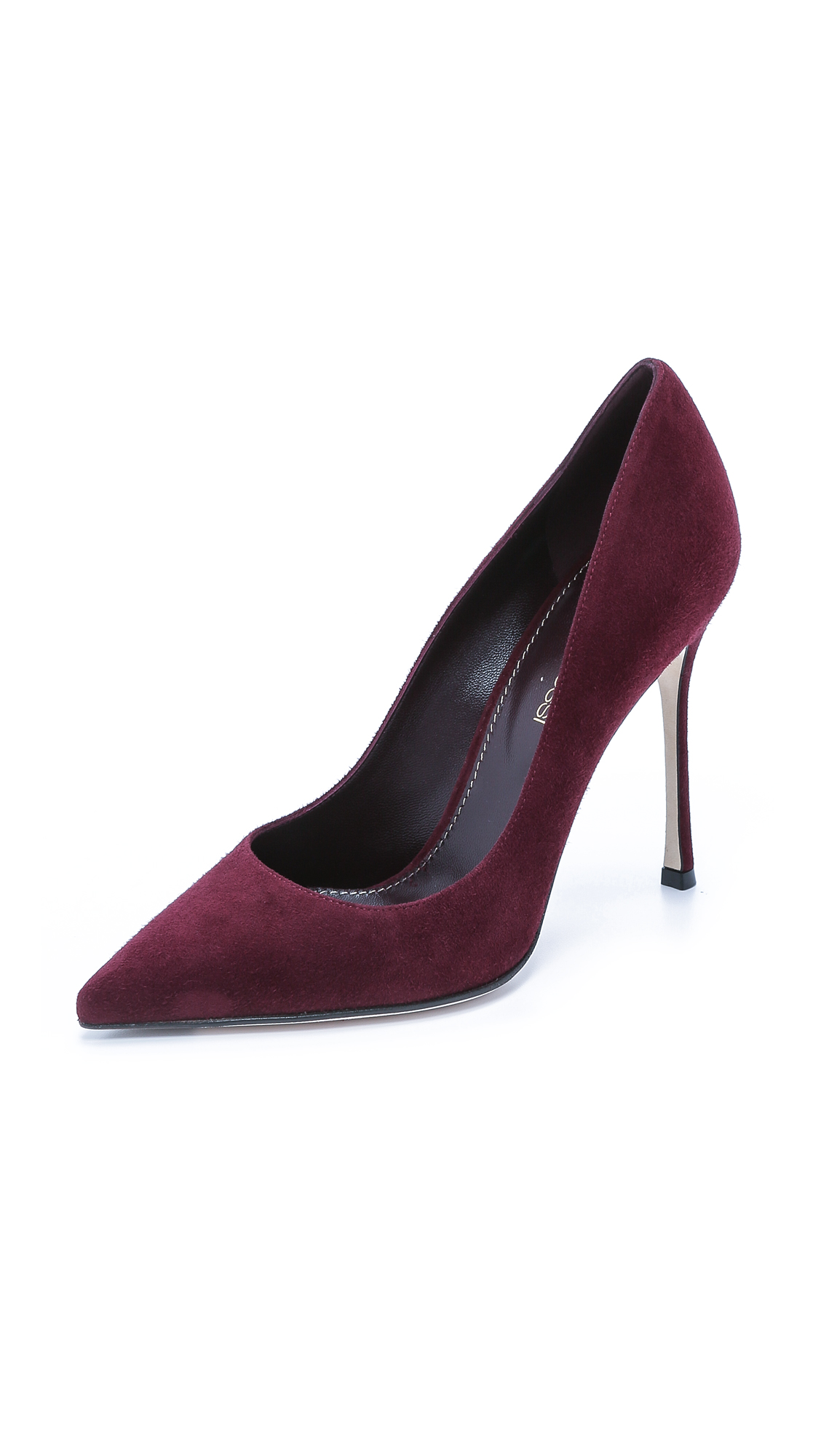 Sergio Rossi Godiva Suede Pointed Pumps In Chateau Chablis