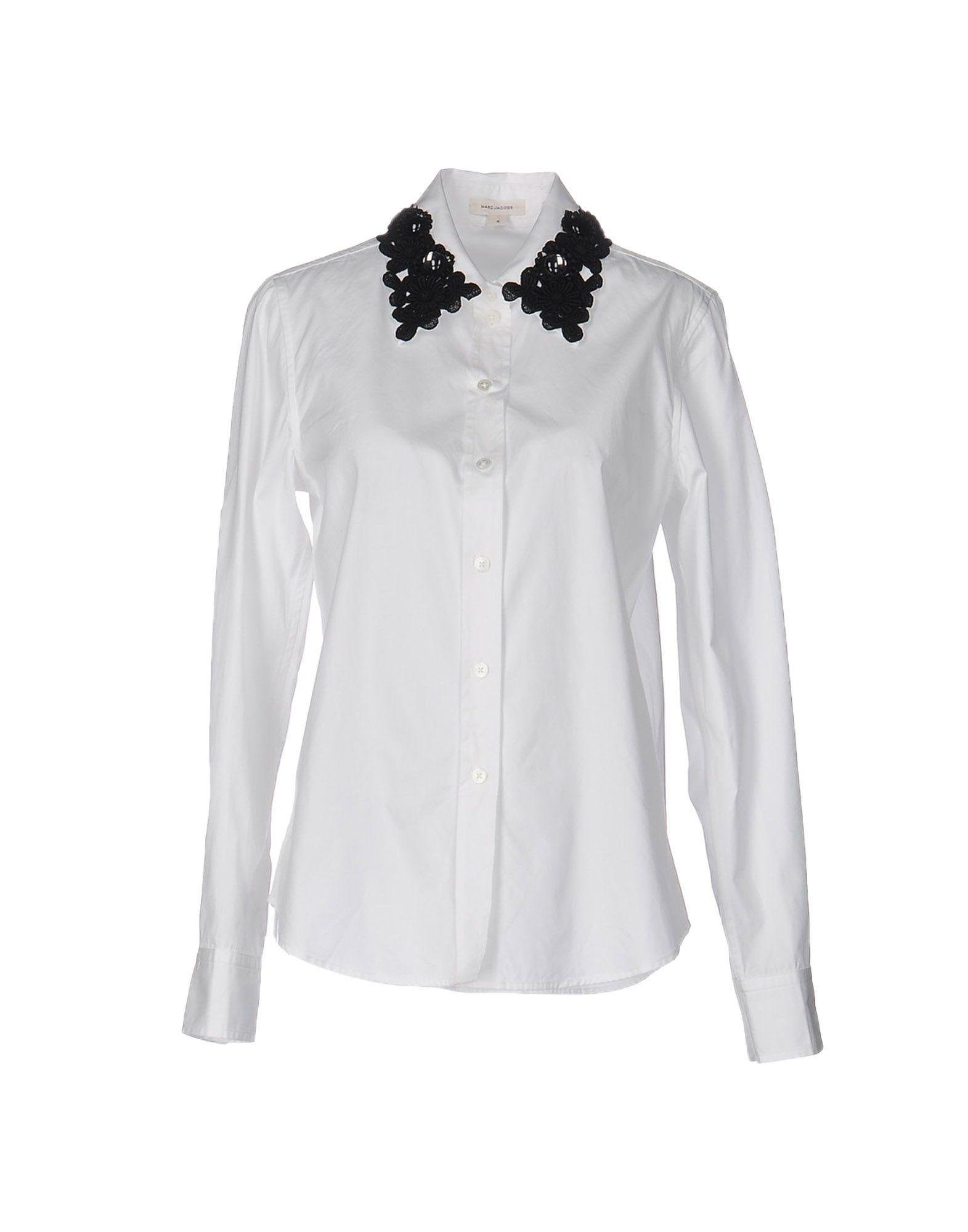 Marc Jacobs Solid Color Shirts & Blouses In Ivory
