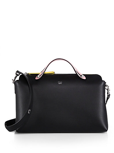 Fendi By The Way Leather Bag In Black