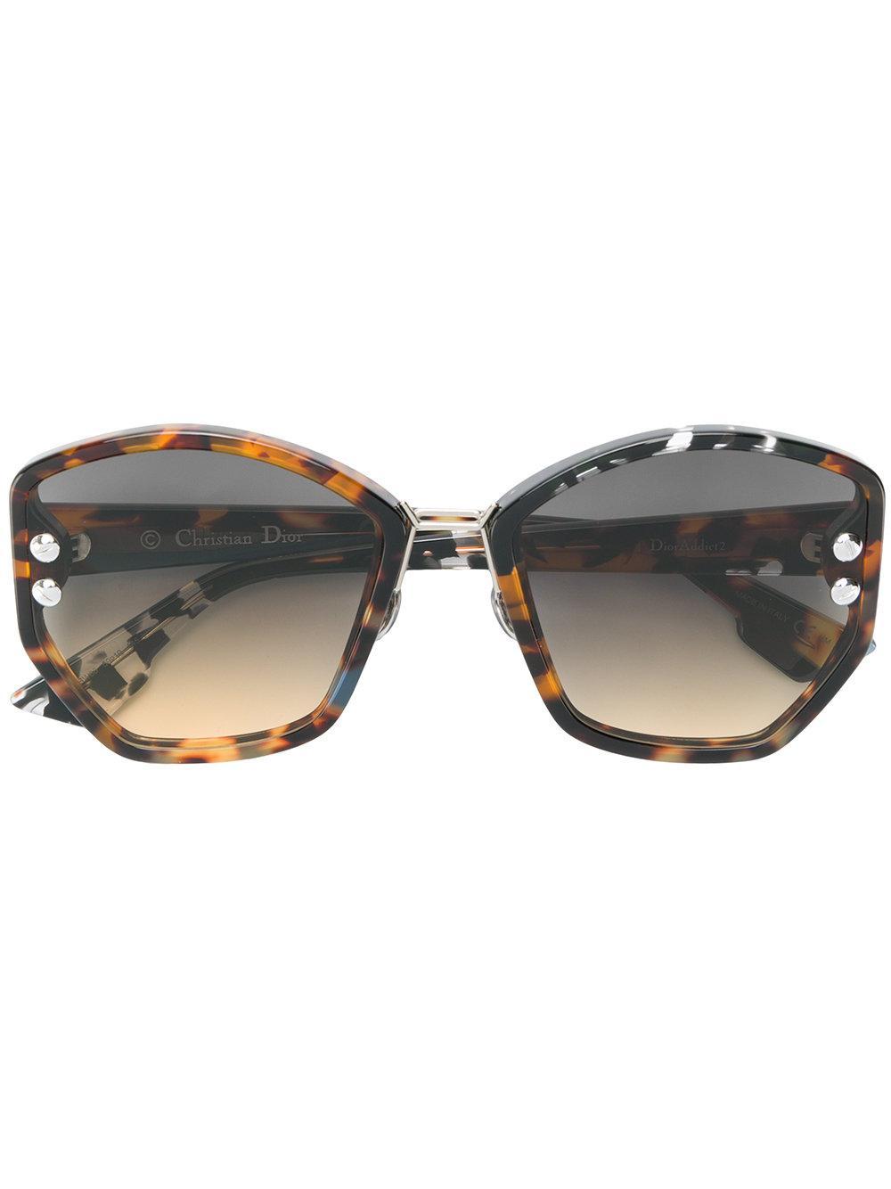 aa1d0943bc577 Dior Eyewear Oversized Sunglasses - Brown