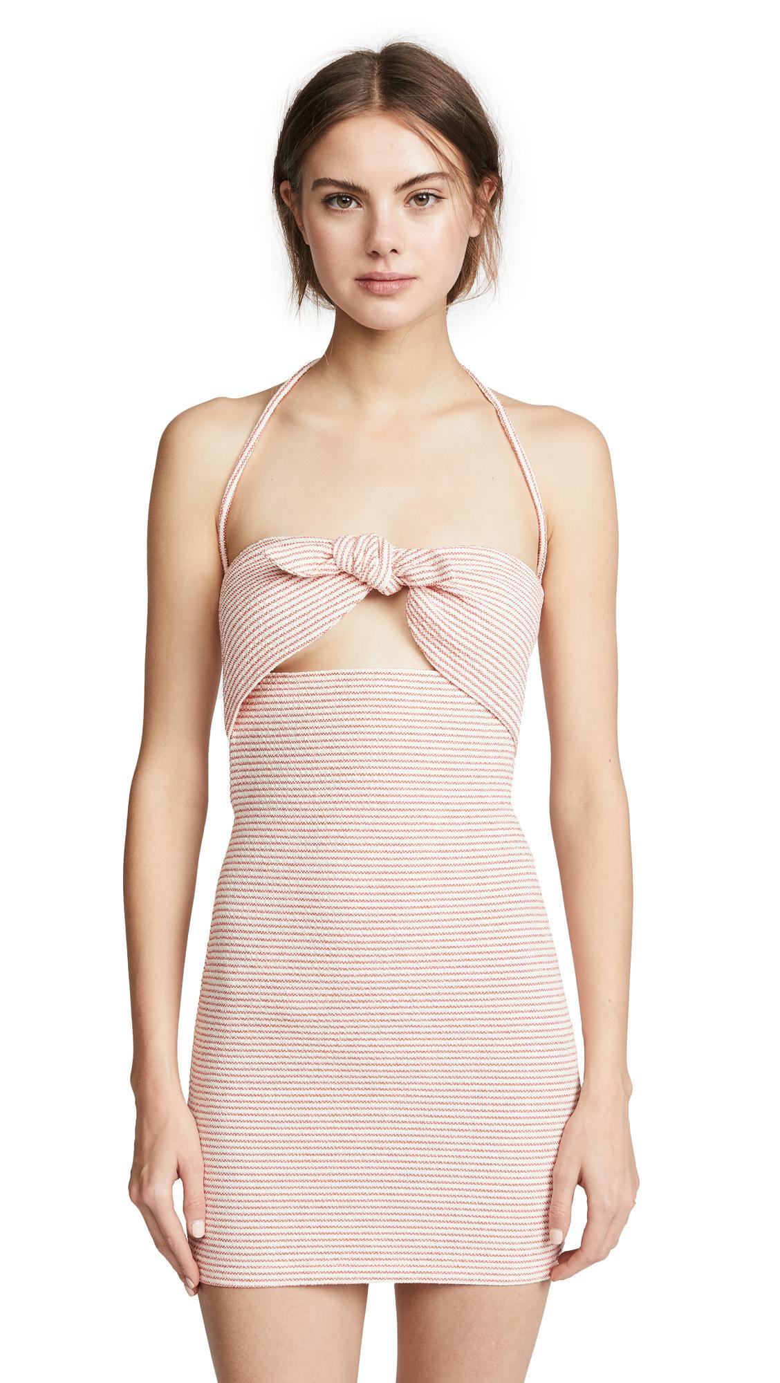 Bec & Bridge Peaches & Cream Dress In Stripe