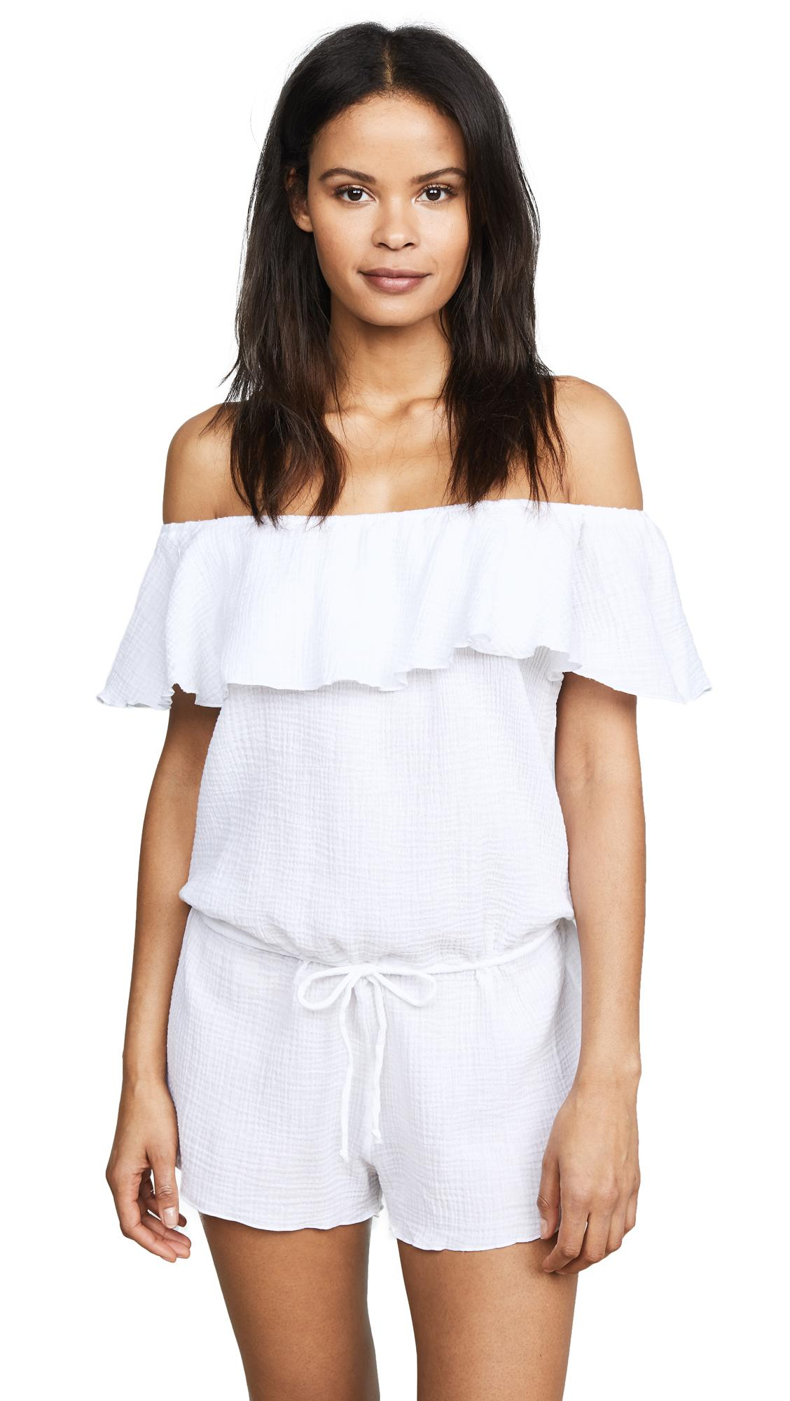 ee7adc6adac1 Eberjey Nomad Tula Romper In White