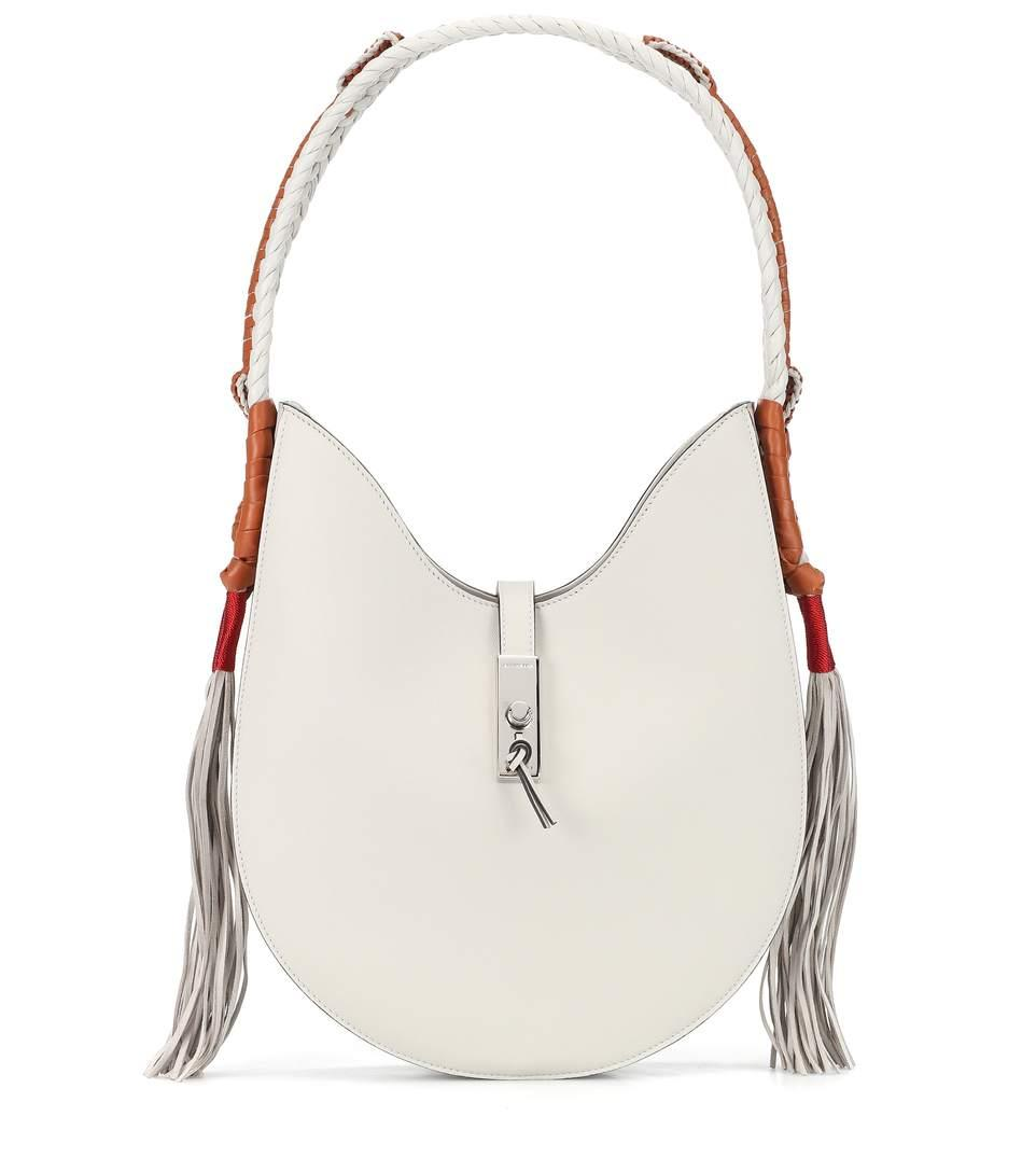 120c6ec81ce Altuzarra Ghianda Bullrope Hobo Small Leather Shoulder Bag In White ...