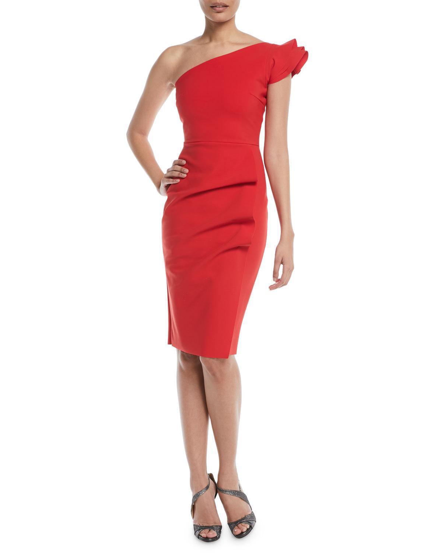 b3aa2481 Chiara Boni La Petite Robe Civia Asymmetric Ruffle-Sleeve Dress In ...