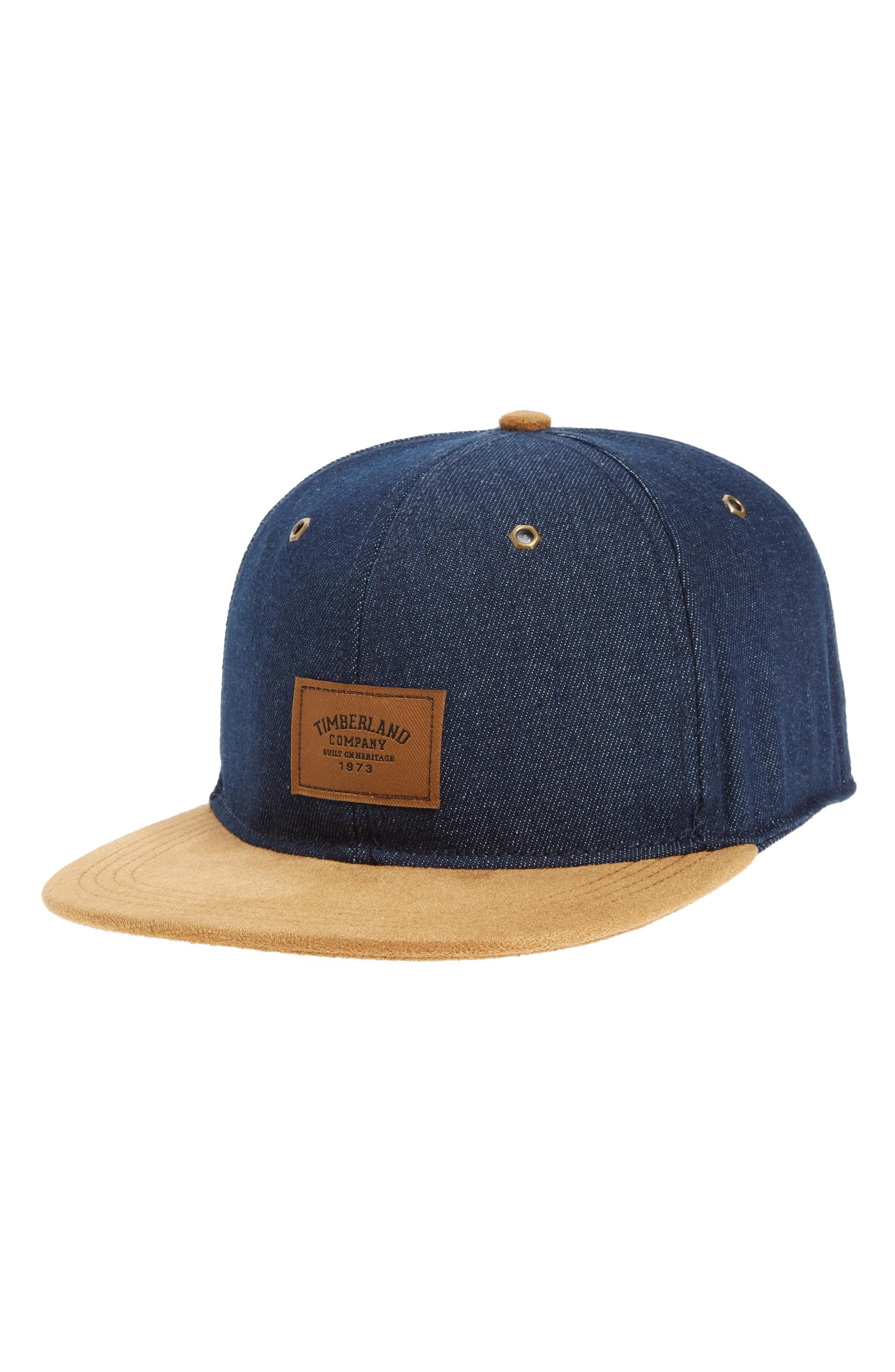 8961664714740 Timberland Tilton Logo Baseball Cap - Blue In Dark Denim