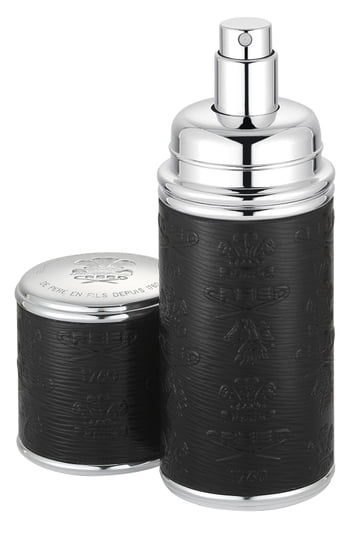 Creed Black With Silver Trim Leather Atomizer, 1.7 oz