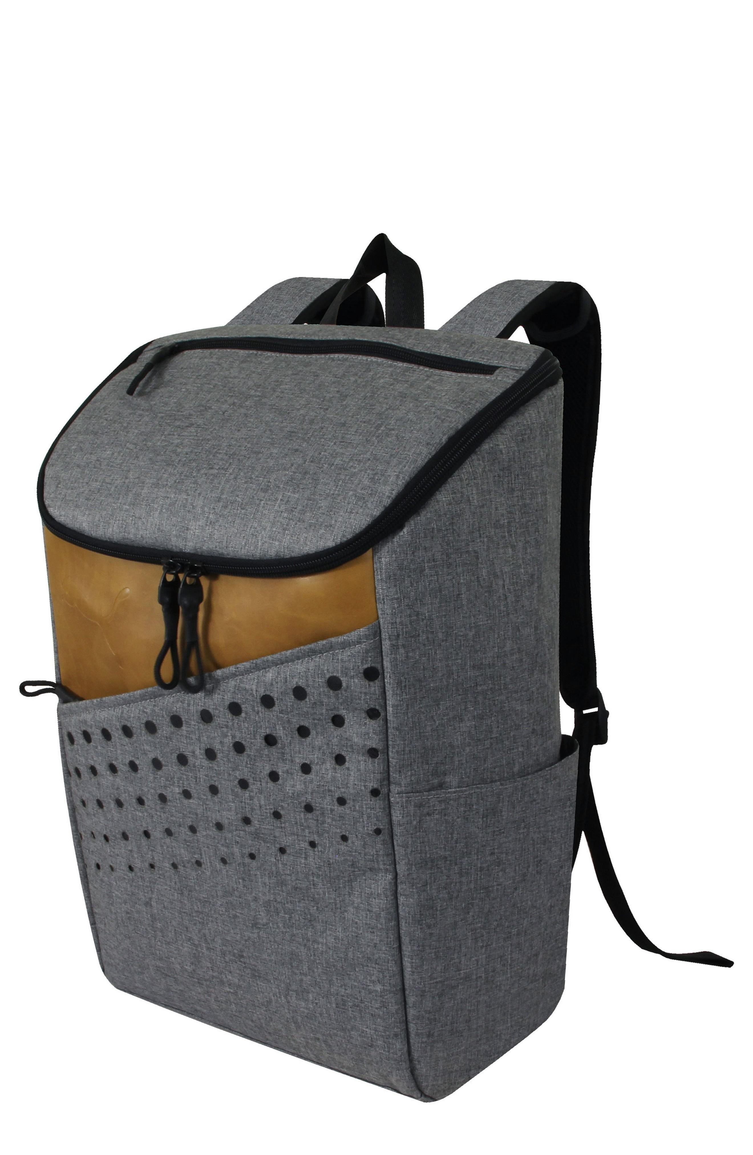 6ce6604f5e A modern backpack designed with a squared-off U-zip top opening allows you  to easily stash