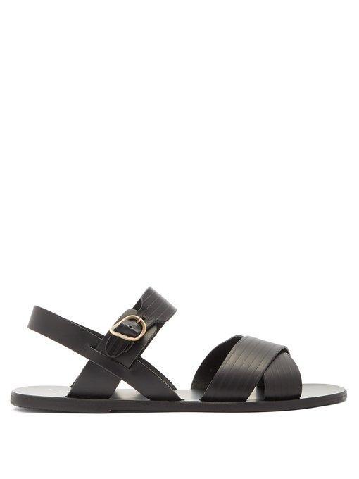 Leather Sandals In Socrates Socrates Black CorBedxW