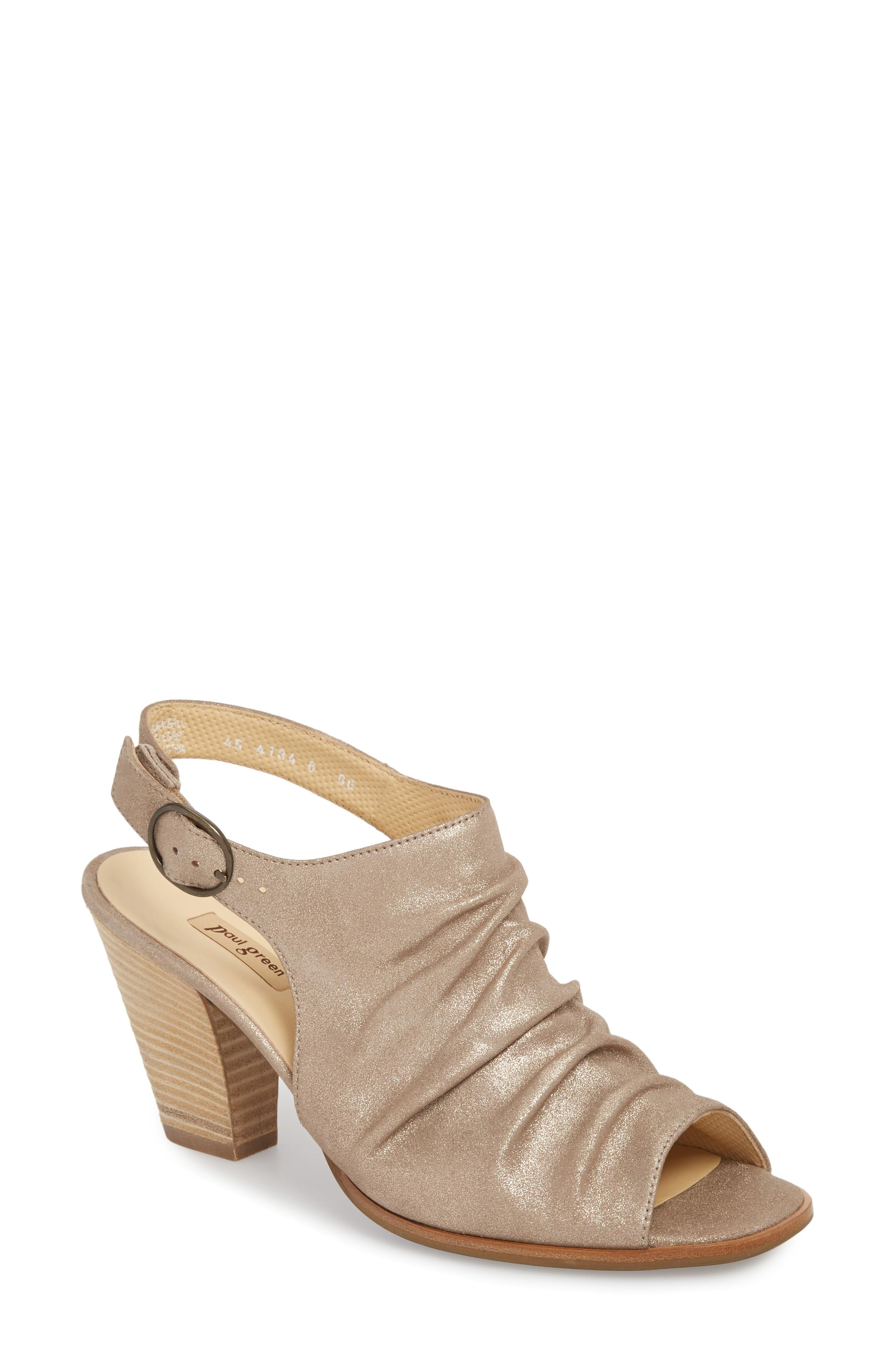 ccd620d2684 Paul Green Rival Sandal In Champagne Nubuck | ModeSens