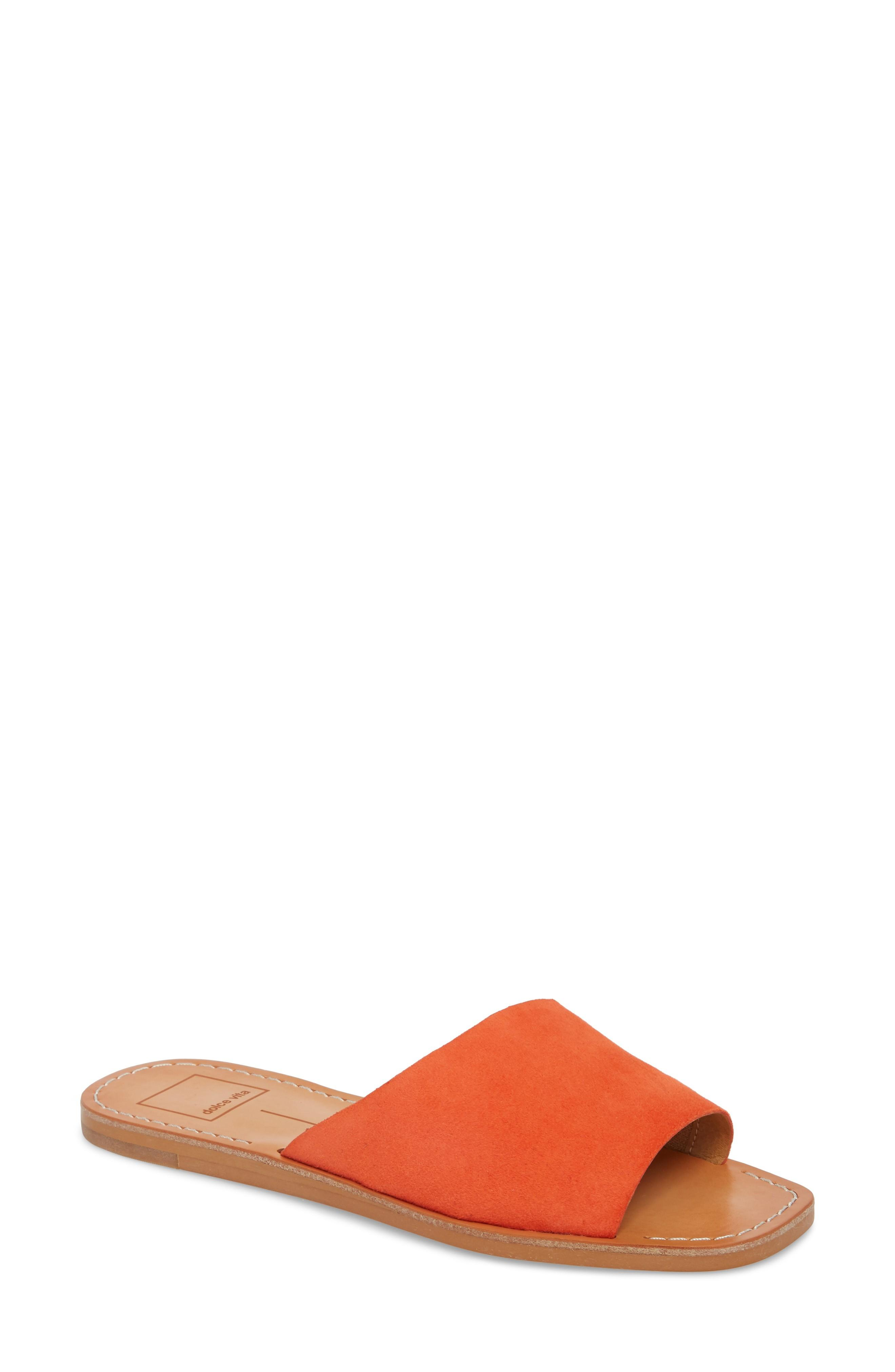 208323b5a Dolce Vita Cato Asymmetrical Slide Sandal In Orange Suede | ModeSens