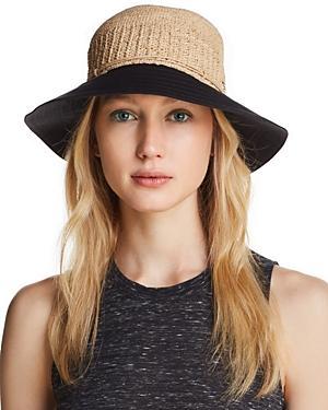 33007b7dfe35a Helen Kaminski Cotton Brim Raffia Hat - Brown In Natural  Black ...