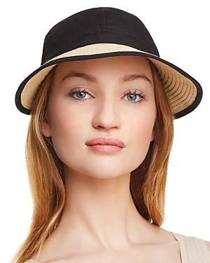 a2dab82f August Hat Company Bow Detail Framer Hat In Natural/Black | ModeSens