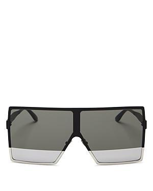 27618990b1 Saint Laurent Women s Sl 182 Betty Oversized Semi-Matte Square Shield  Sunglasses