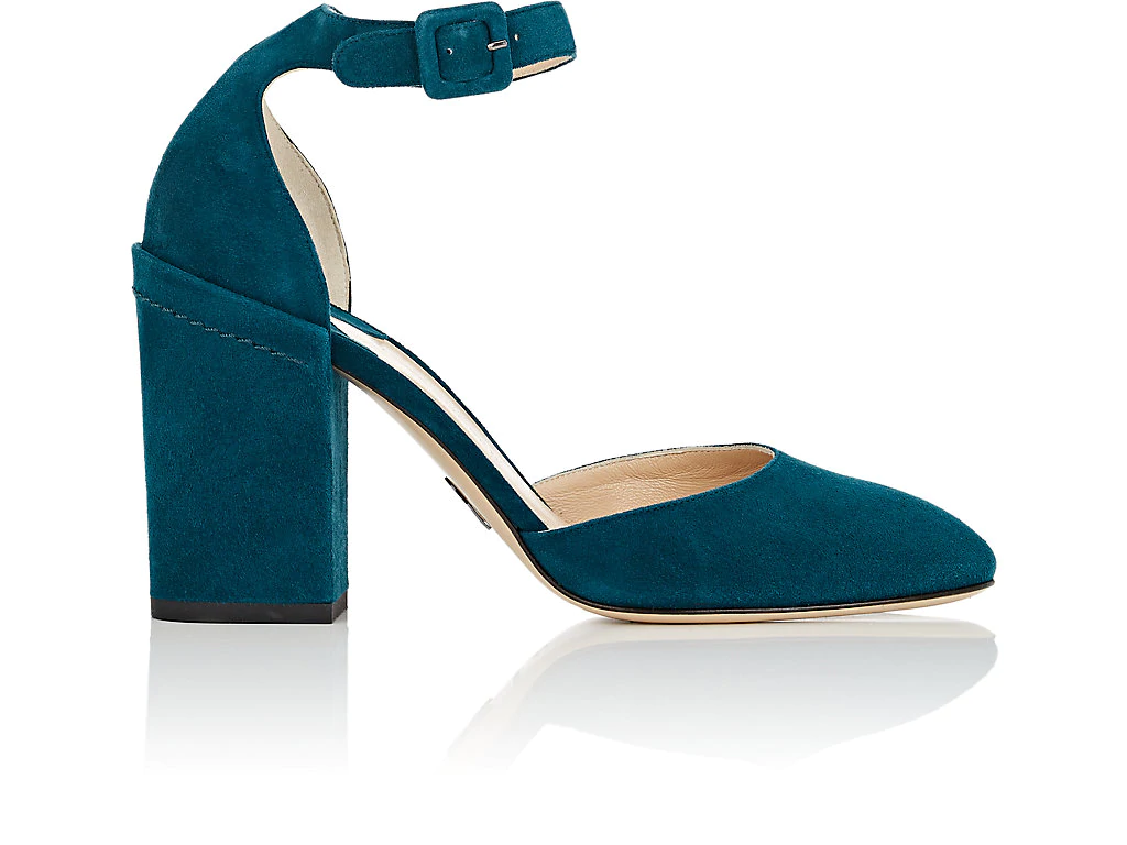 Paul Andrew Bastioni Suede Pumps In Turquoise