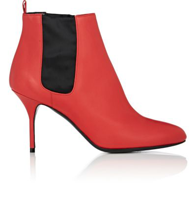 Pierre Hardy Jo Leather Ankle Boots - Red