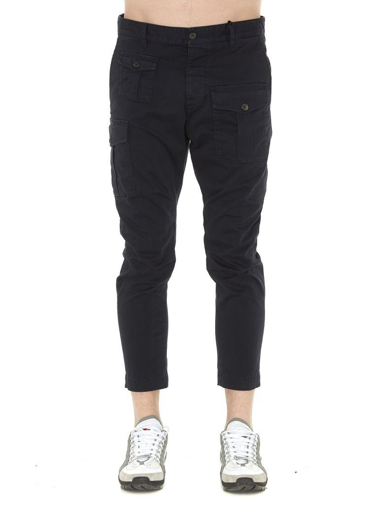 Dsquared2 Stretch Cotton Pants In Blue