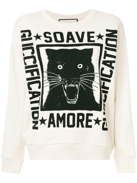 ef76c68d1d2 Gucci Soave Amore Fication Print Sweatshirt