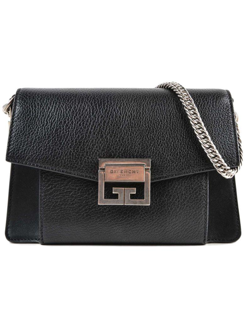 Givenchy Black Gv3 Small Leather Shoulder Bag