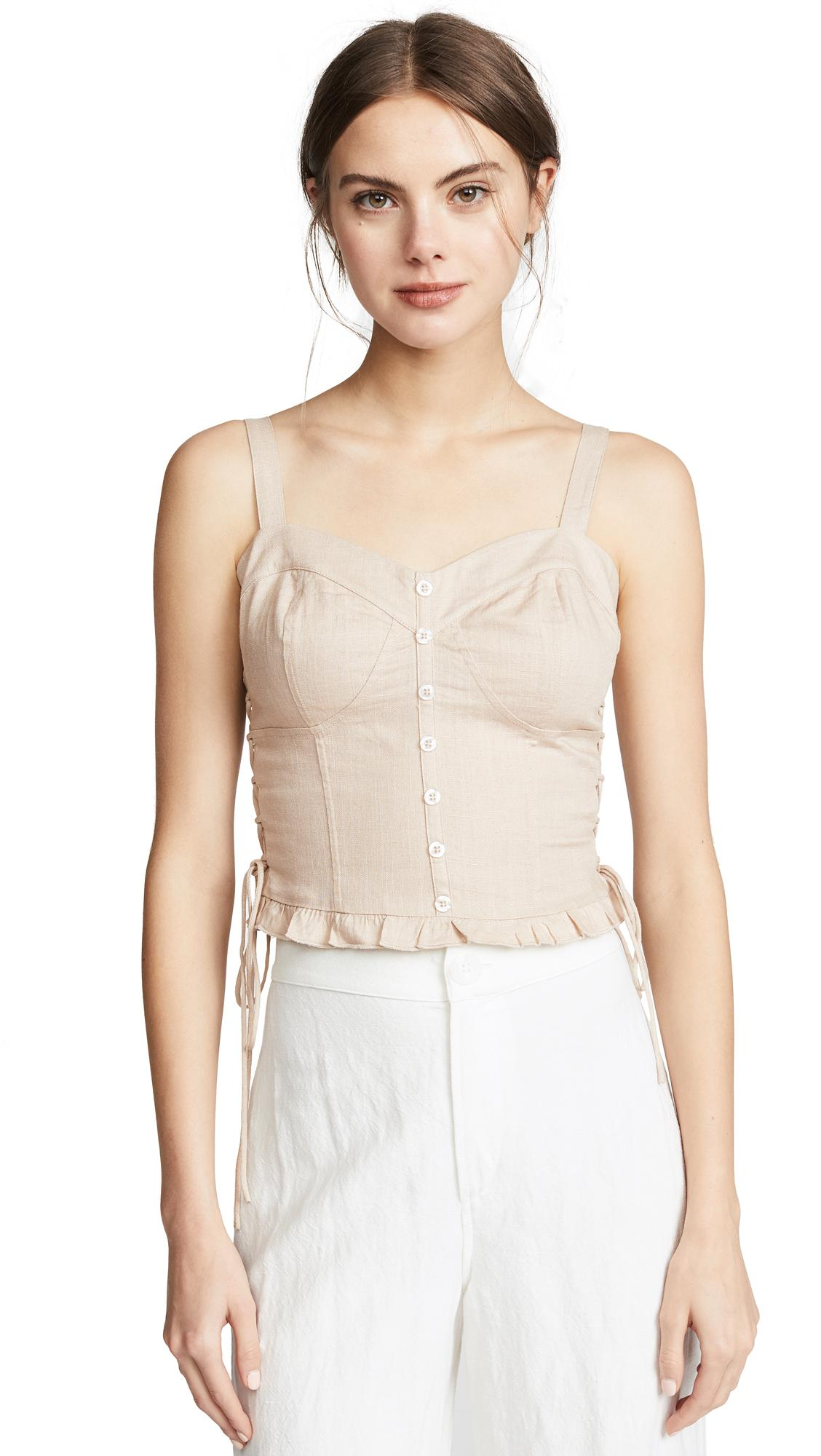 af43aa031e Bustier Top in Sand