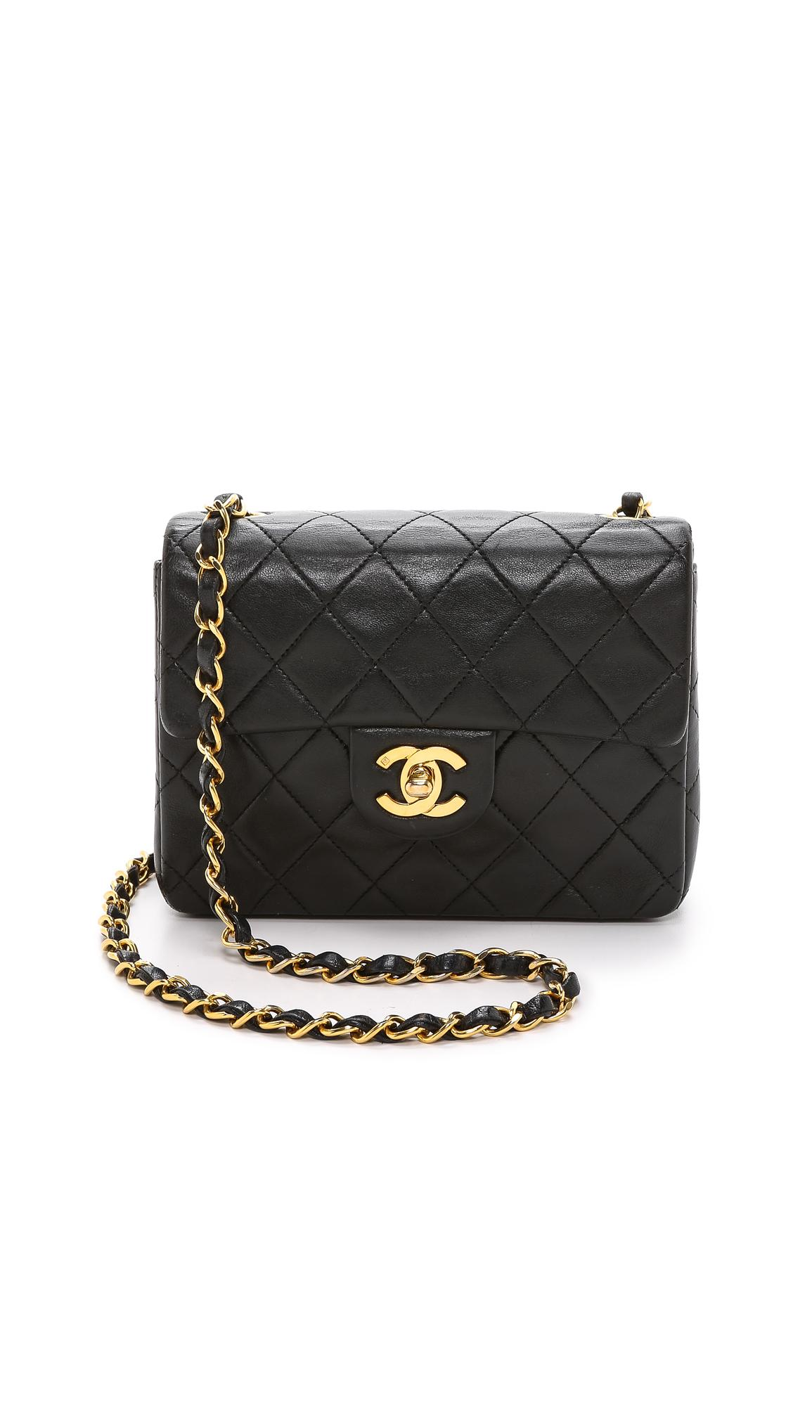 5aebbc3986fa7c What Goes Around Comes Around Chanel Mini Flap Bag In Black | ModeSens