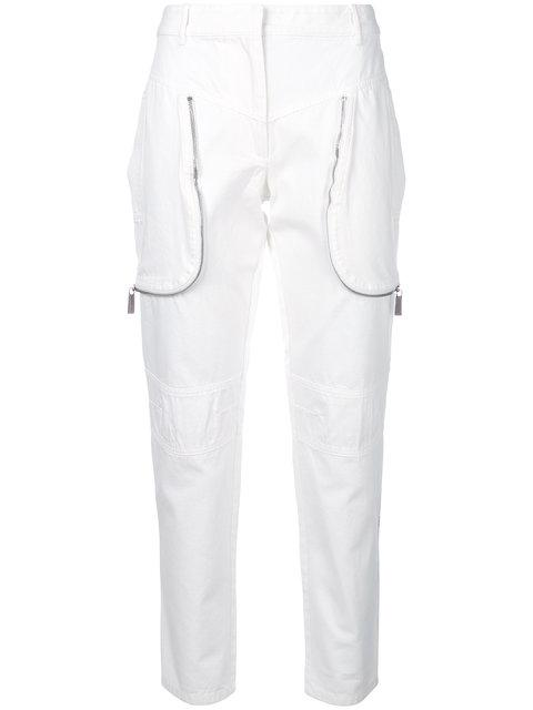 Barbara Bui Zip-detail Fitted Trousers In White