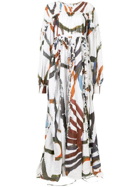 Aje Textured Printed Maxi Dress