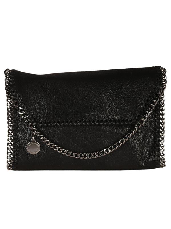 Stella Mccartney 'Mini Falabella - Shaggy Deer' Faux Leather Crossbody Bag - Black