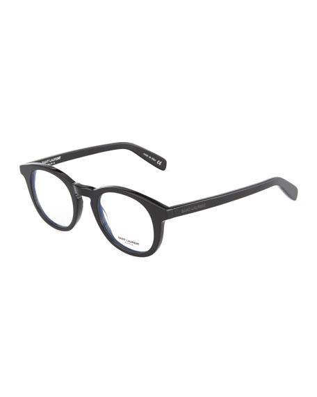 Saint Laurent Square Acetate Optical Glasses In Black