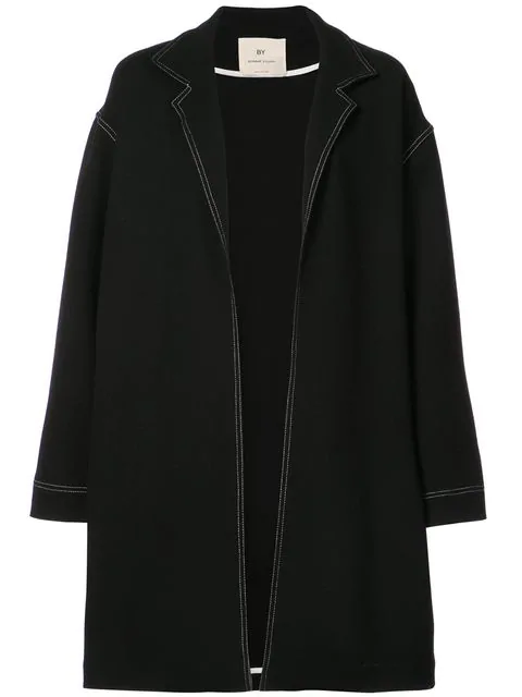 By. Bonnie Young Contrast Trimmed Oversized Coat