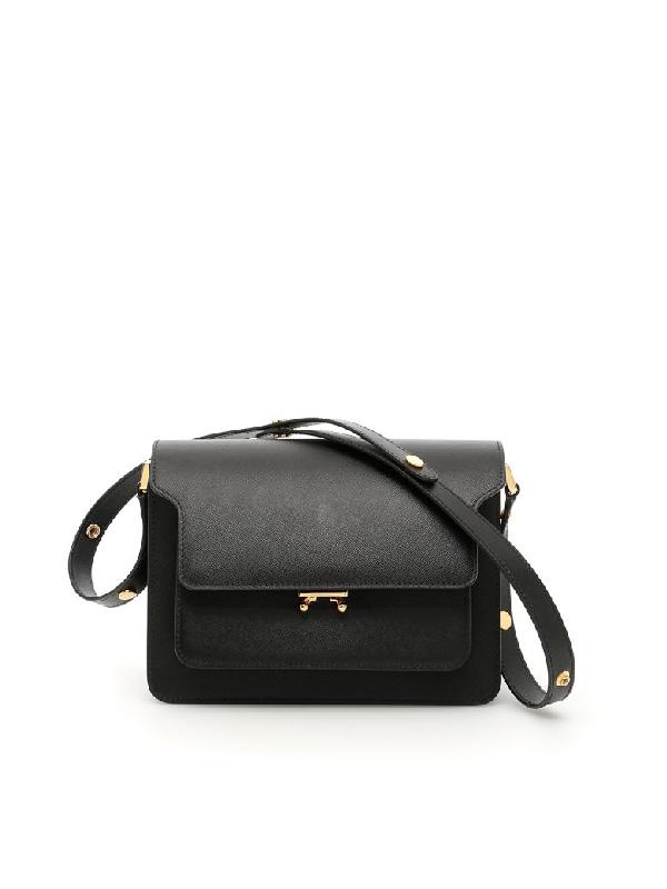Marni Trunk Bag In Blacknero