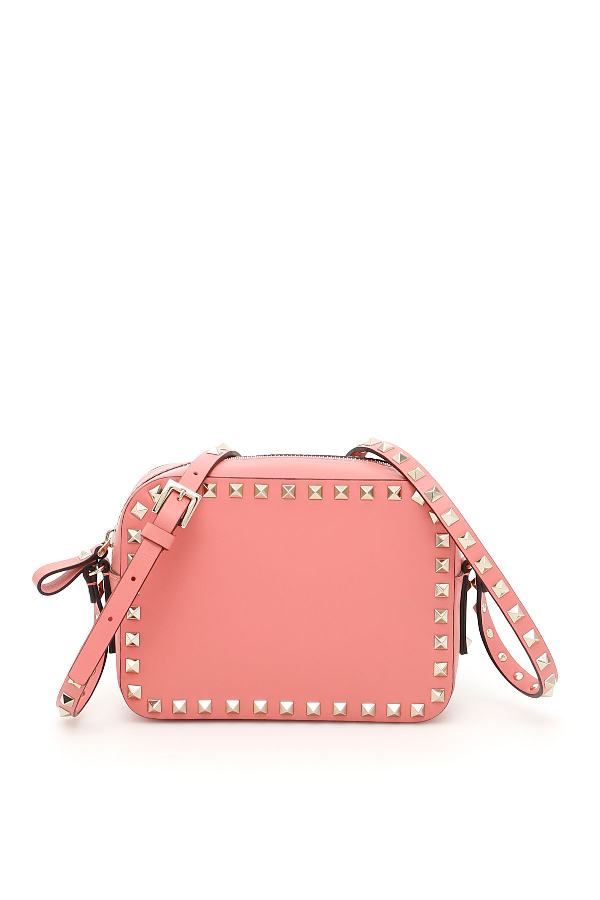 Valentino Garavani Rockstud Crossbody Bag In Tropical Sunriserosa
