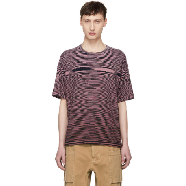 Missoni Pink Striped Effect T-shirt In 3061red/pnk