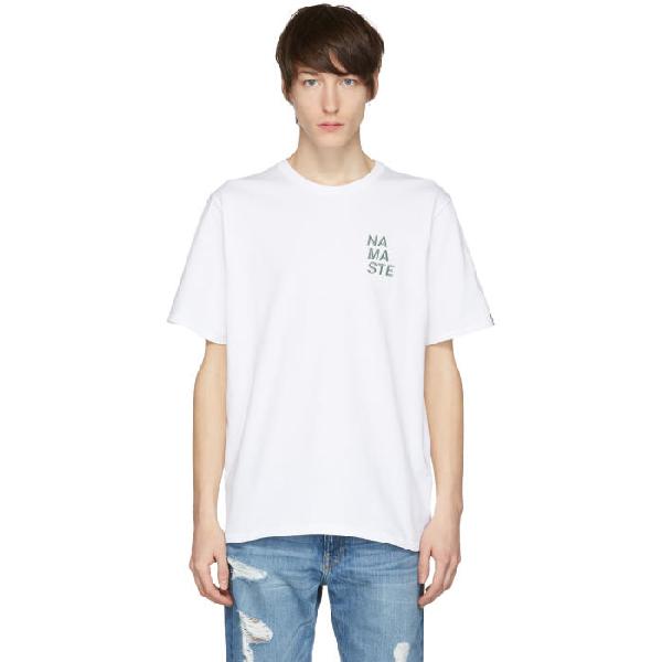 Rag & Bone Rag And Bone White Namaste T-shirt