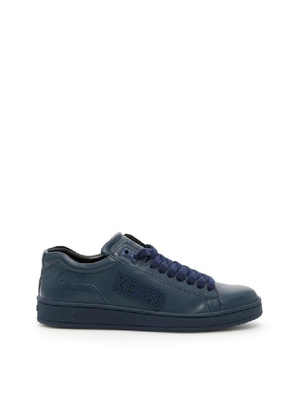 Kenzo Nappa Sneakers In Bleu Marineblu