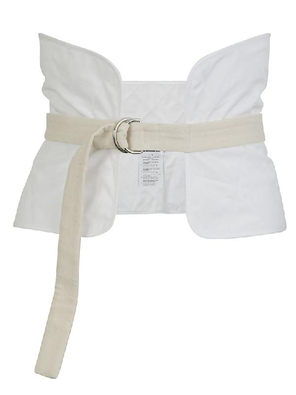 Jil Sander Miscellaneous Corset Belt In White