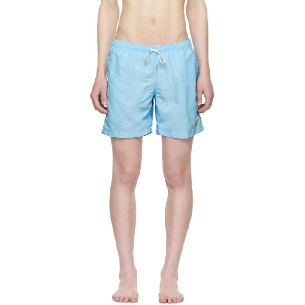 Bather Blue Solid Swim Shorts In Baby Blue