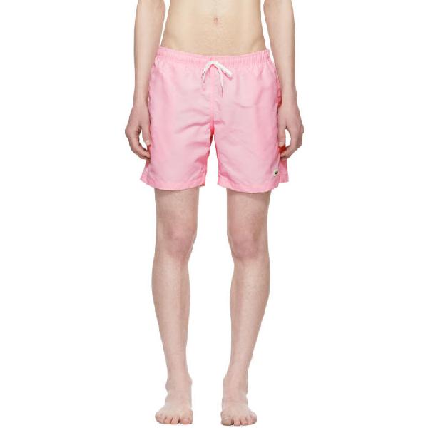 Bather Pink Solid Swim Shorts