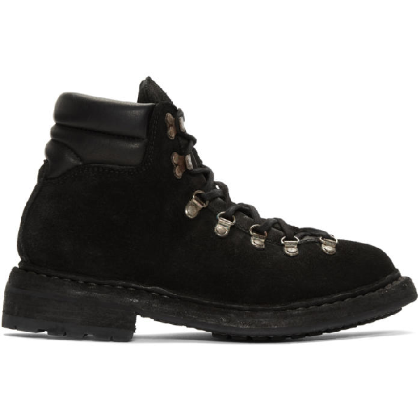 Guidi Black Hiking Boots In Blkt