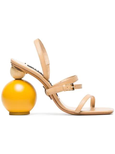 Jacquemus Beige Les Sandales Bahia 105 Leather Sandals