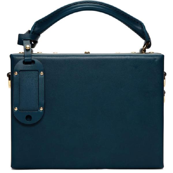 Sophie Hulme Blue Albany Bag In Canard