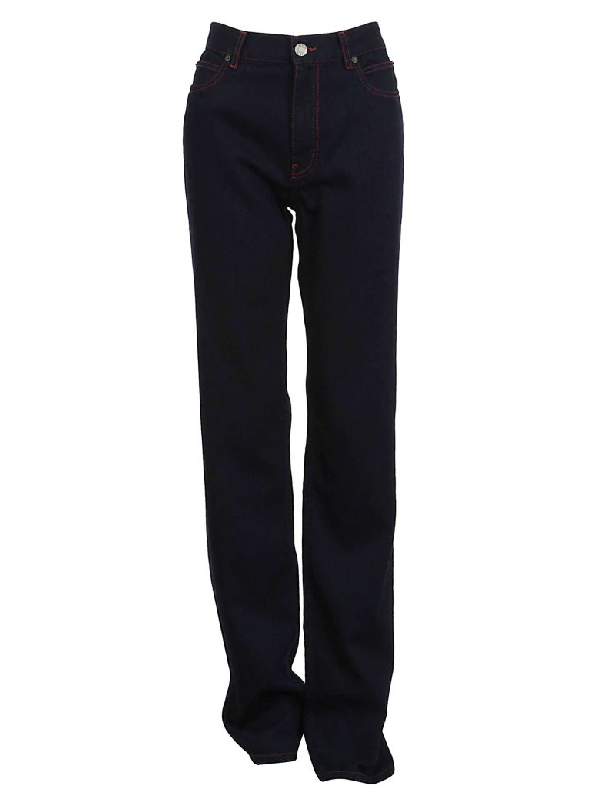 Calvin Klein High-waisted Jeans In Blue