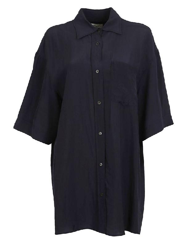 Dries Van Noten Oversized Shirt In Blue