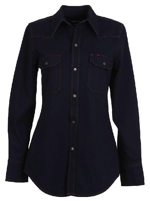 Calvin Klein Denim Shirt In Blue