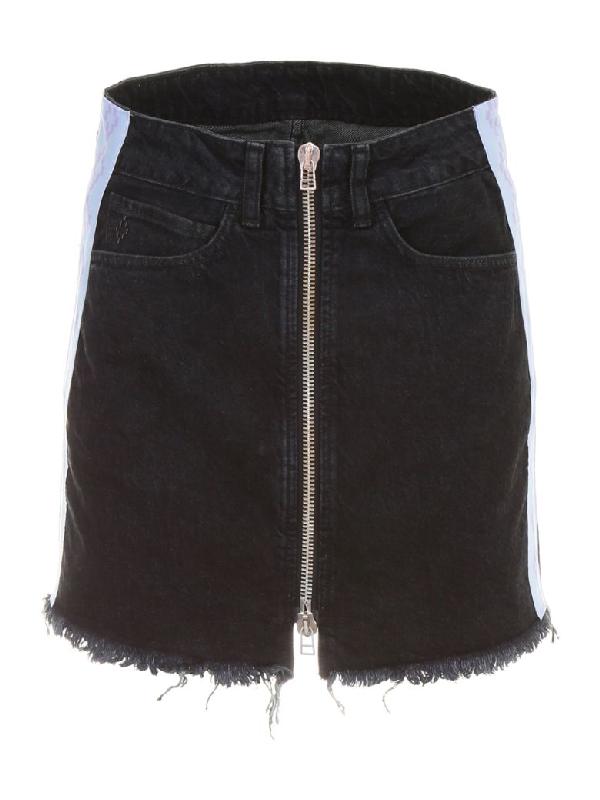 Marcelo Burlon County Of Milan Marcelo Burlon Denim Skirt In Light Wash (black)