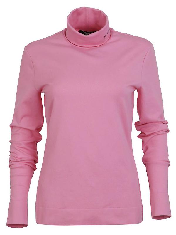 Calvin Klein Turtleneck Sweater In Pink & Purple